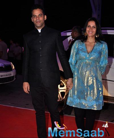 Vikramaditya Motwane With Wife Ishika Mohan Arrived At Kush Sinha Wedding Reception