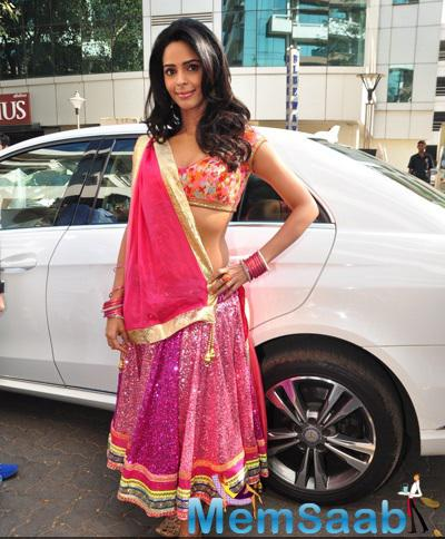 Mallika Sherawat Arrived The Music Launch Of Film Dirty Politics