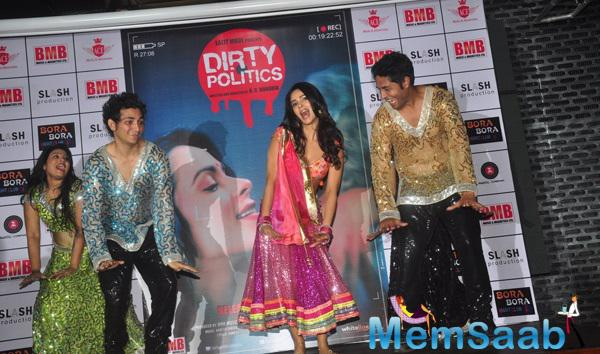 Mallika Sherawat Shakes A Leg At The Music Launch Of Film Dirty Politics