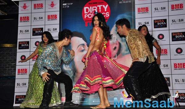Mallika Sherawat Shows Off Impressive Dance Moves During Dirty Politics Music Launch