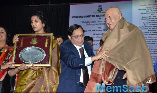 Prem Chopra Felicitated By Mumbai University