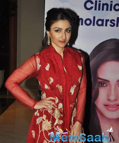 Soha Ali Khan Looked Chic In A Red Designer Suit At The Event