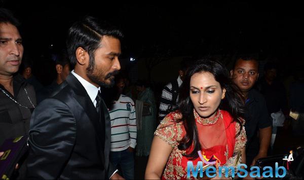 Dhanush Accompanied With Wife Aishwarya R. Dhanush During The Shamitabh Movie Audio Launch