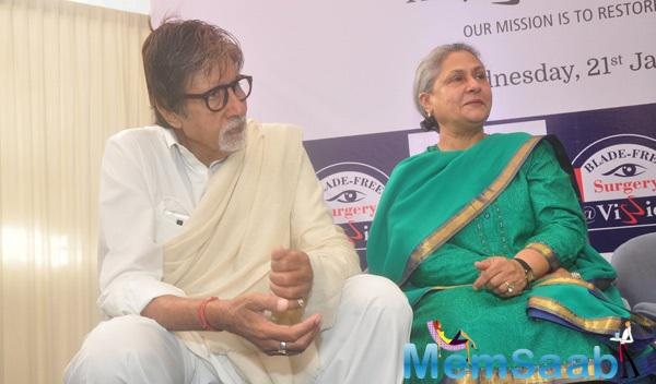 Big B And Wife Jaya Bachchan Launched Eye Care Technology