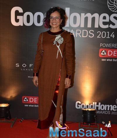 Adhuna Bhabani Akhtar Flashes Smile At Good Homes Awards 2014