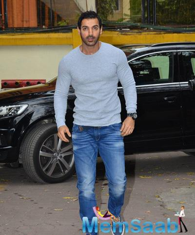 John Abraham Posed During The Launch Of In Search Of Dignity And Justice Book