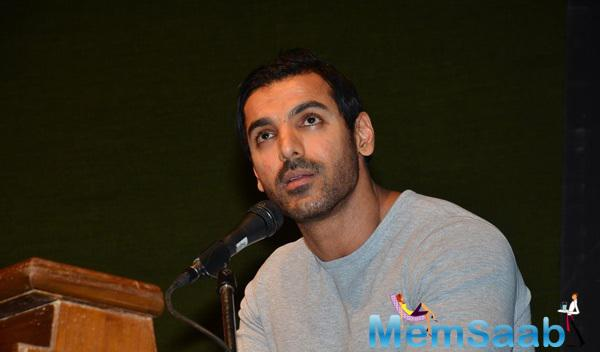 John Abraham Spoke Some Words During In Search Of Dignity And Justice Book Launch