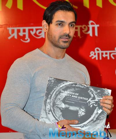 John Abraham Unveils The In Search Of Dignity And Justice Book