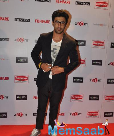 Amit Sadh Cool Pose On Red Carpet At 60th Britannia Filmfare Pre-Awards Night Bash
