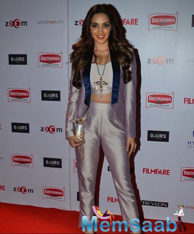 Kiara Advani In The Circus Outfit Glamour Look At 60th Britannia Filmfare Pre-Awards Night Bash