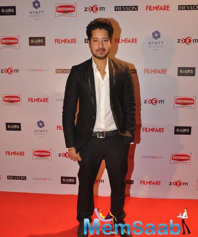 Rajat Barmecha Cool Pose On Red Carpet At 60th Britannia Filmfare Pre-Awards Night Bash