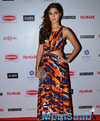 Rhea Chakraborty Fashionable Look At 60th Britannia Filmfare Pre-Awards Night Bash