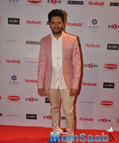 Riteish Deshmukh All Smiles At 60th Britannia Filmfare Pre-Awards Night Bash