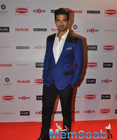 Saqib Saleem Dappers Look On Red Carpet At 60th Britannia Filmfare Pre-Awards Night Bash