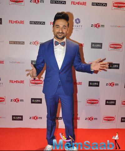Vir Das Strikes A Pose At 60th Britannia Filmfare Pre-Awards Night Bash