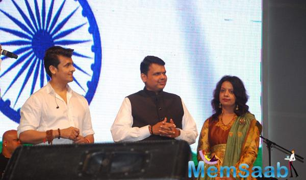 Sonu Nigam Performs On The Eve Of 66th Republic Day At MMRDA Ground