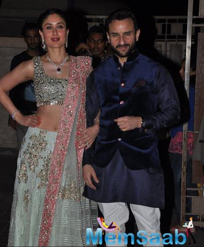 Kareena Kapoor And Hubby Saif Ali Khan Stunning Look During Soha Ali Khan And Kunal Khemu Wedding Party