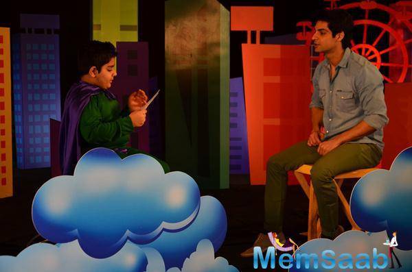 Sadhil Kapoor Chat With Karan Wahi On The Sets Of Captain Tiao