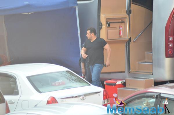 Salman Khan Spotted At Mehboob Studio