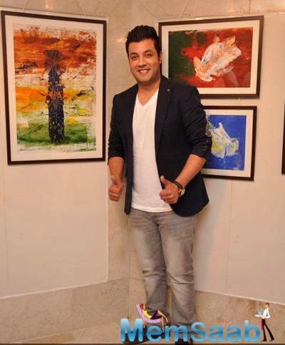 Varun Sharma Strikes A Pose During The Art Exhibition 2015