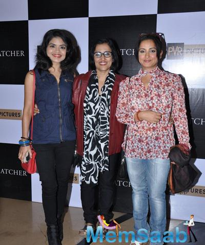Rashmi Pitre And Divya Dutta Posed At The Screening Of Hollywood Flick Foxcatcher
