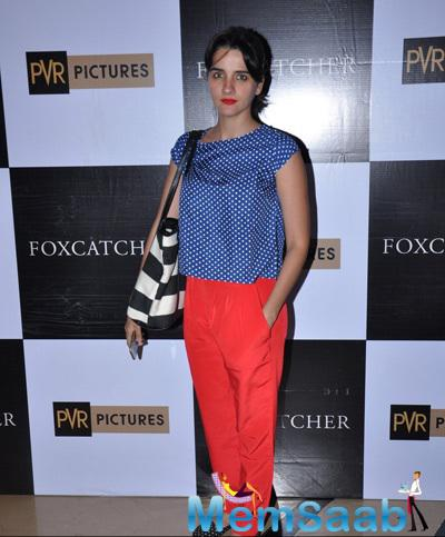 Shruti Seth Cool Simple Look During The Screening Of Hollywood Flick Foxcatcher