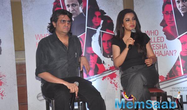 Manish Gupta And Tisca Chopra Interact With Media During The Launch Of Rahasya Film