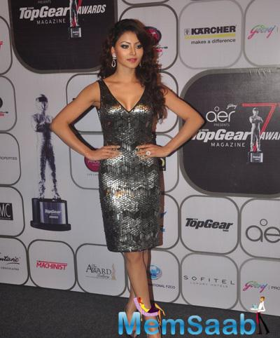 Urvashi Rautela Strikes A Pose During The 7th Top Gear Awards