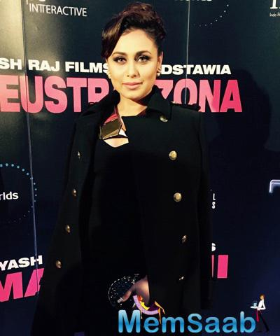 Rani Mukerji Attractive Stunning Look During The Premiere Of Mardaani Movie In Poland
