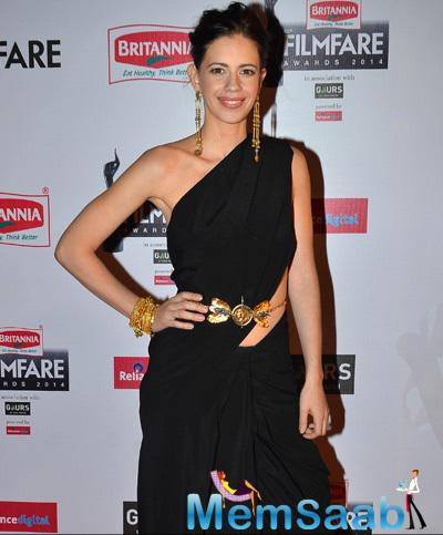 Kalki Koechlin In Nikhil Thampi Stunning Look At 60th Britannia Filmfare Awards 2015