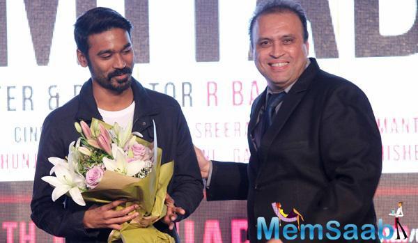Dhanush Promoted His Upcoming Movie Shamitabh In Dubai