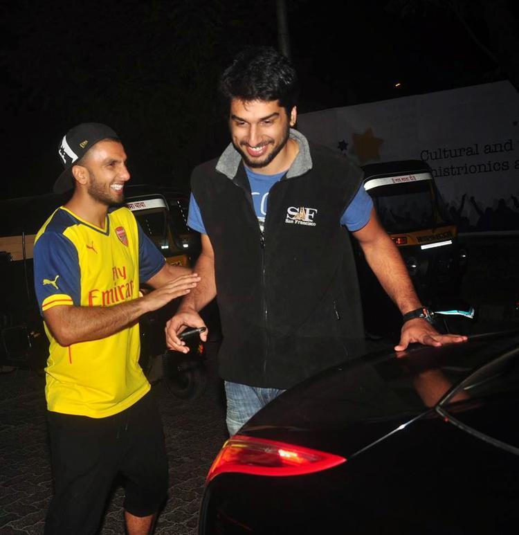 Ranveer Singh Cool Look In Arsenal Soccer Tee At PVR In Mumbai