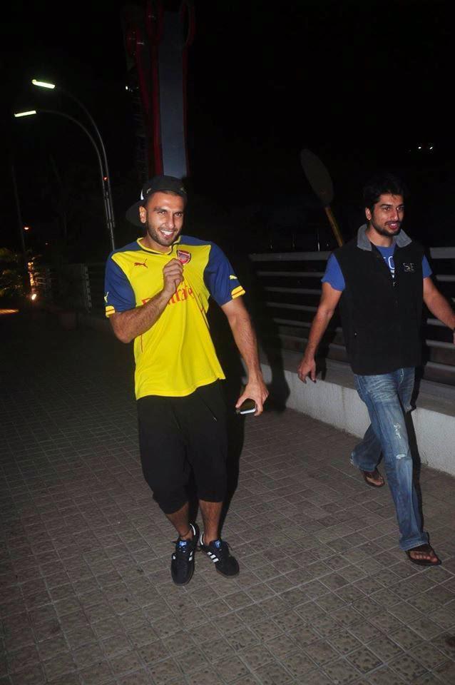 Ranveer Singh Spotted In Personalised Arsenal Soccer Tee At PVR, Juhu