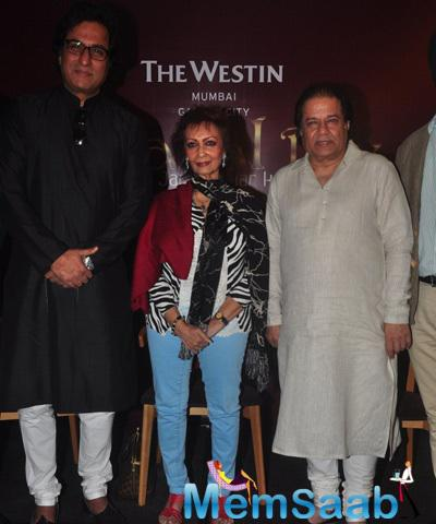 Talat,Anup And Chitra During The Announcement Of Ghazal Day Musical Concert