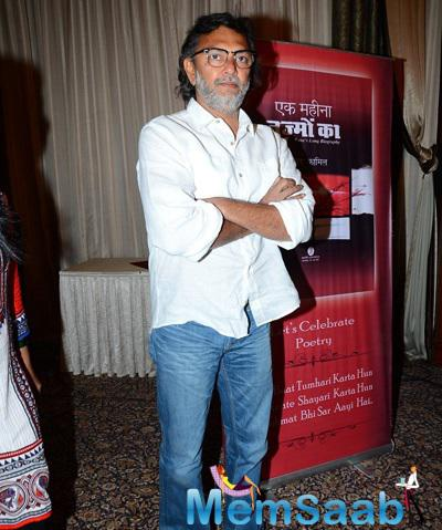 Rakeysh Omprakash Mehra During The Ek Maheena Nazmon Ka Launch Event