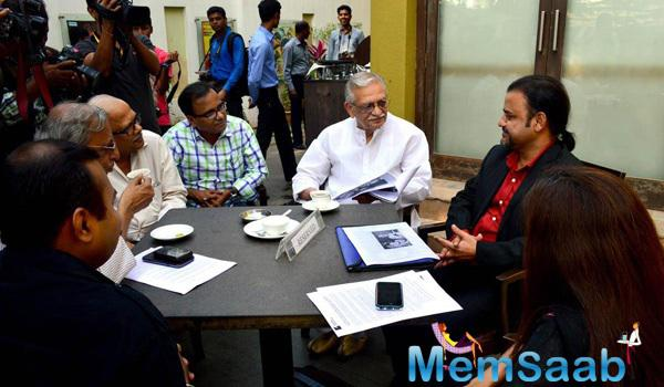 Gulzar Launches His Painting Series At The Mumbai Press Club