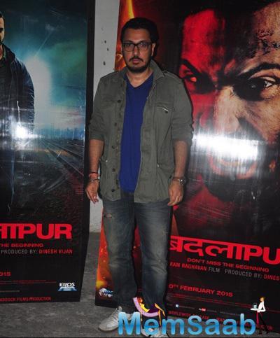 Producer Dinesh Vijan At Meboob Studio For Promoting Badlapur Movie