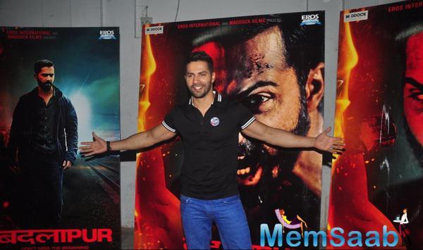 Varun Dhawan Strikes A Pose During The Promotion Of Badlapur At Meboob Studio