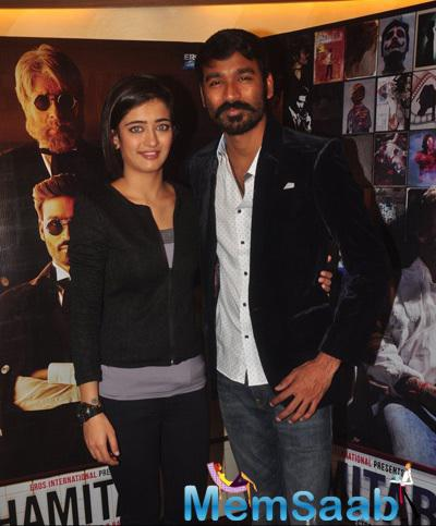 Akshara Haasan And Dhanush Promote Their Upcoming Flick Shamitabh At Mehboob Studio