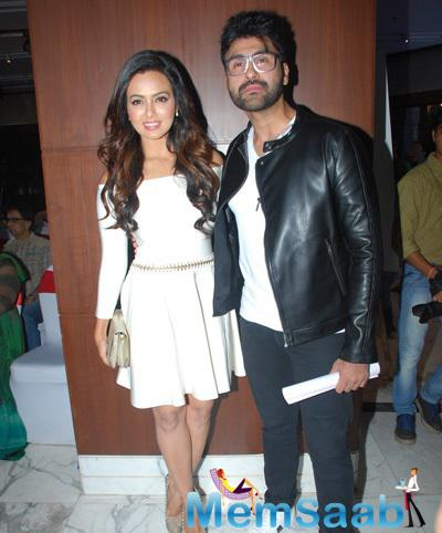 Sana Khan And Aarya Babbar Posed During The Book Launch Of Aarya Babbar