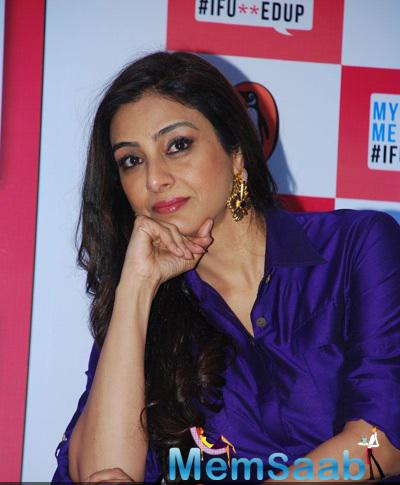 Tabu Attended The Launch Of Aarya Babbar's Book My Fiancee, Me & #IFU**EDUP