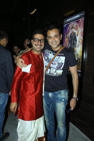 Jitendra Joshi And Sumeet Raghvan Smiling Pose At The Premiere Of Shreyas Talpade Starrer Baji