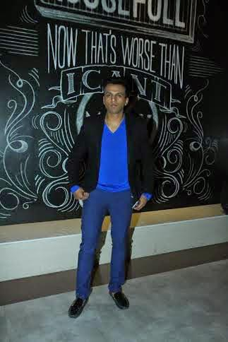 Singer Abhijeet Sawant Strikes A Pose During The Premiere Of Shreyas Talpade Starrer Baji
