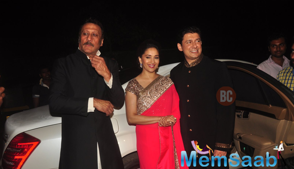 Jackie And Madhuri With Her Hubby Attended Sanjay Hinduja's Pre-Wedding Party