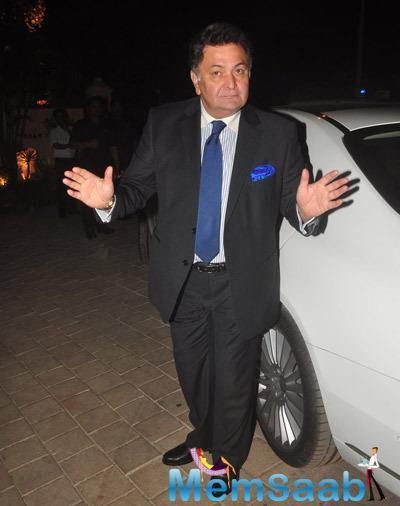 Rishi Kapoor Arrives At Sanjay Hinduja's Pre-Wedding Bash
