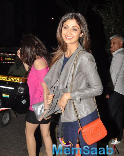 Shamita Shetty And Shilpa Shetty Snapped At Olive Bar & Kitchen
