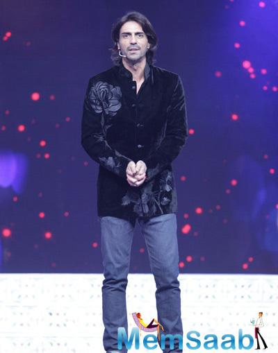 Arjun Rampal Handsome Look During Star Valentine's Day Event In Film City
