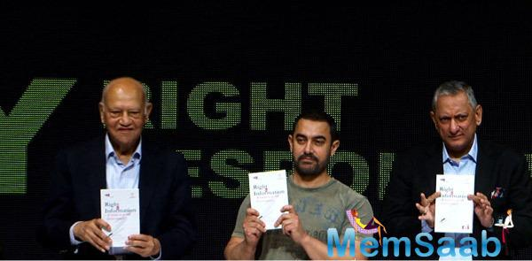 Aamir Khan As A Chief Guest At The My Right, My Responsibility Event