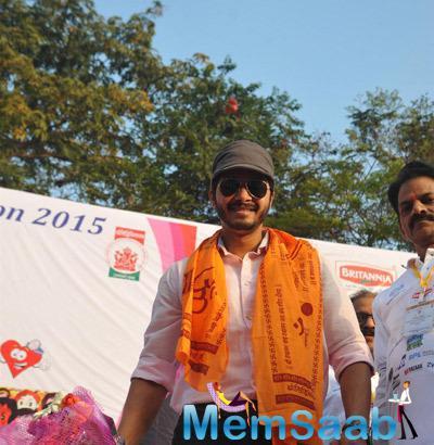 Actor Shreyas Talpade During The Annual Little Hearts Marathon 2015