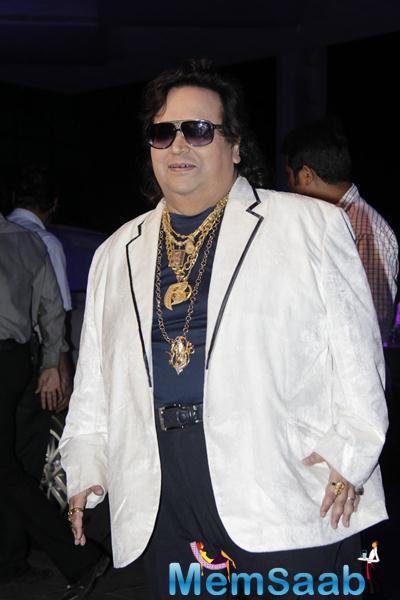 Composer-Singer Bappi Lahiri Cool Look At Smita Thackerey Son Wedding Reception